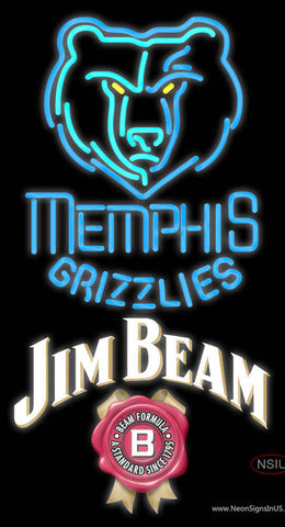 Jim Beam Memphis Grizzlies NBA Neon Beer Sign