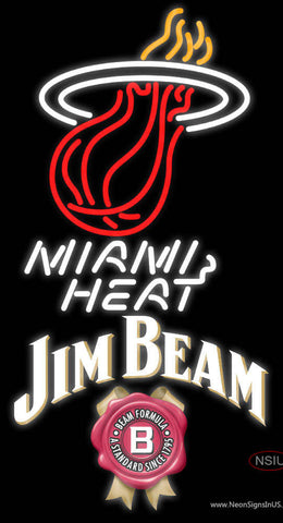 Jim Beam Miami Heat NBA Neon Beer Sign