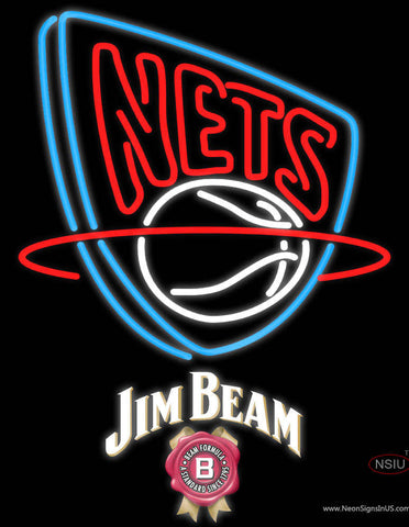 Jim Beam New Jersey Nets NBA Neon Beer Sign