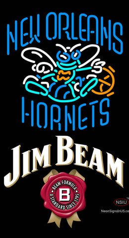 Jim Beam New Orleans Hornets NBA Neon Beer Sign