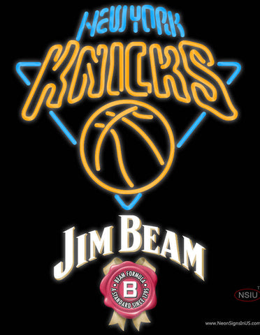 Jim Beam New York Knicks NBA Neon Beer Sign