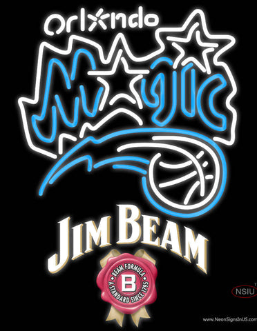Jim Beam Orlando Magic NBA Neon Beer Sign