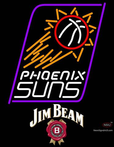 Jim Beam Phoenix Suns NBA Neon Beer Sign
