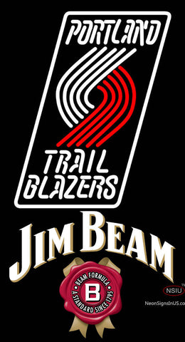 Jim Beam Portland Trail Blazers NBA Neon Beer Sign