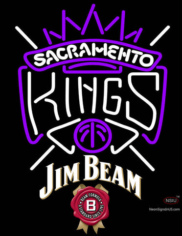Jim Beam Sacramento Kings NBA Neon Beer Sign
