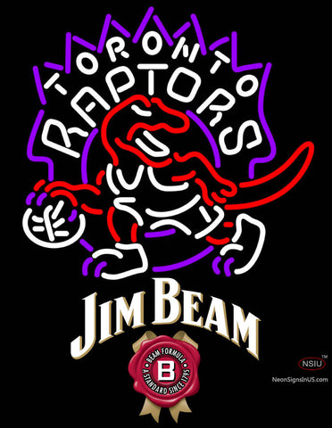 Jim Beam Toronto Raptors NBA Neon Beer Sign