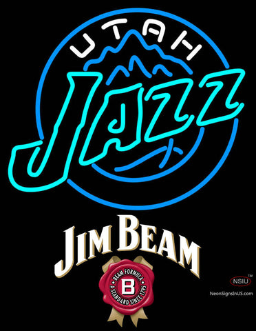Jim Beam Utah Jazz NBA Neon Beer Sign