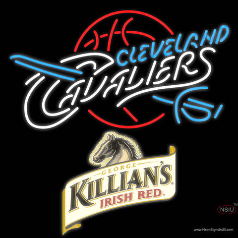 Killians Cleveland Caveliers NBA Neon Beer Sign