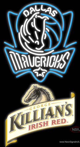 Killians Dallas Mavericks NBA Neon Beer Sign