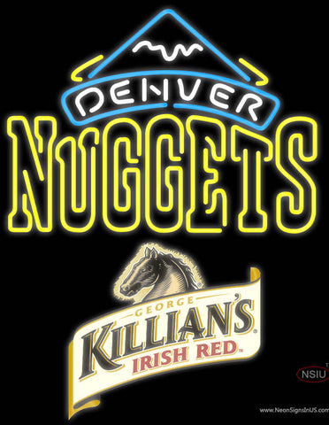 Killians Denver Nuggets NBA Neon Beer Sign