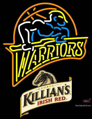 Killians Golden St Warriors NBA Neon Beer Sign