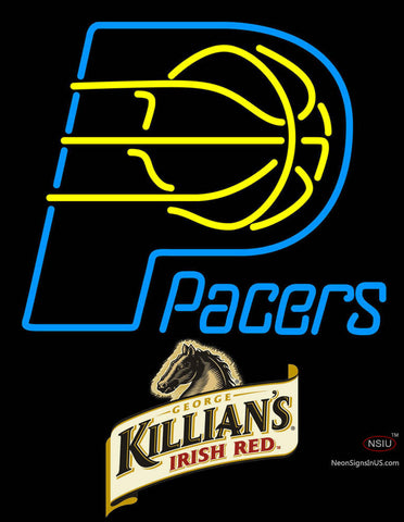 Killians Indiana Pacers NBA Neon Beer Sign
