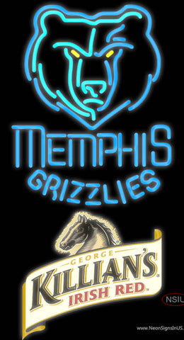 Killians Memphis Grizzlies NBA Neon Beer Sign