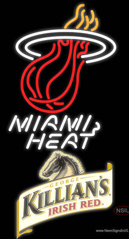 Killians Miami Heat NBA Neon Beer Sign