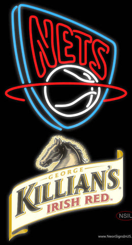 Killians New Jersey Nets NBA Neon Beer Sign