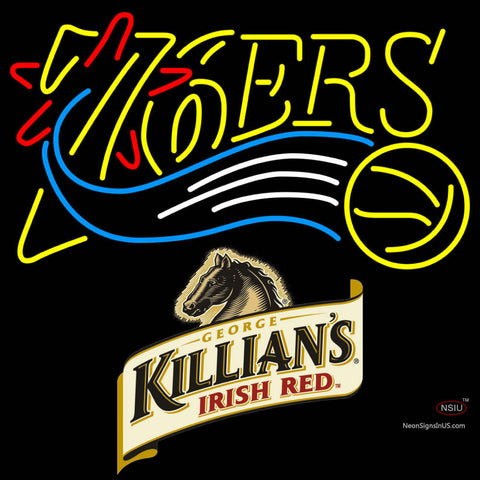Killians Philadelphia 7ers NBA Neon Beer Sign