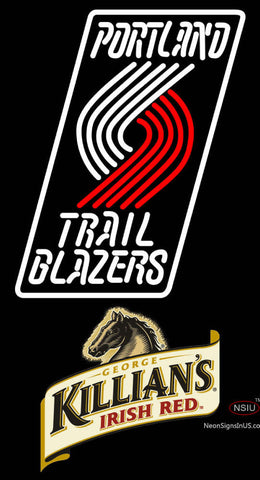 Killians Portland Trail Blazers NBA Neon Beer Sign