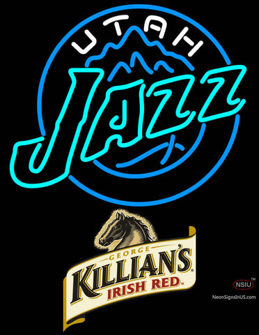 Killians Utah Jazz NBA Neon Beer Sign