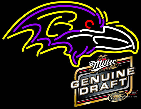 MGD Baltimore Ravens NFL Neon Sign