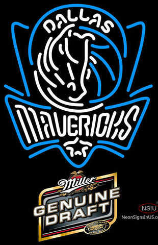 MGD Dallas Mavericks NBA Neon Sign