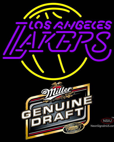 Mgd Los Angeles Lakers NBA Neon Sign
