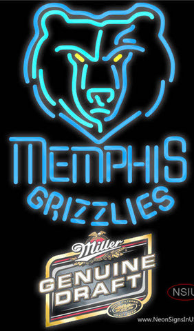 Mgd Memphis Grizzlies NBA Neon Sign