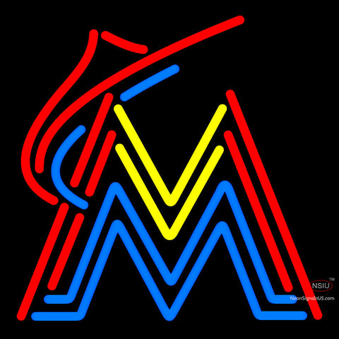 Miami Marlins Alternate  Pres Logo MLB  Neon Sign x