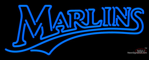 Miami Marlins Wordmark   Logo MLB  Neon Sign