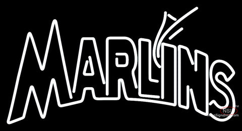 Miami Marlins Wordmark  Pres Logo MLB  Neon Sign
