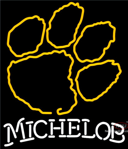 Michelob Clemson UNIVERSITY Tiger Print Neon Sign