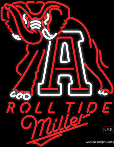 Miller Alabama Roll Tide Neon Sign