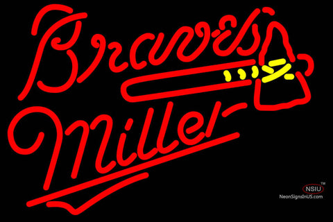 Miller Atlanta Braves MLB Neon Sign