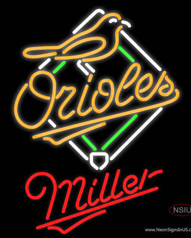 Miller Baltimore Orioles MLB Neon Sign