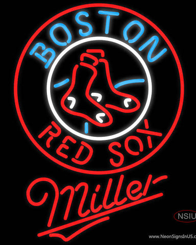 Miller Boston Red Sox MLB Neon Sign