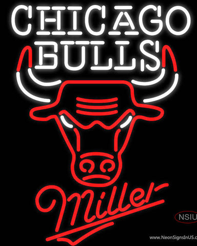 Miller Chicago Bulls NBA Neon Sign