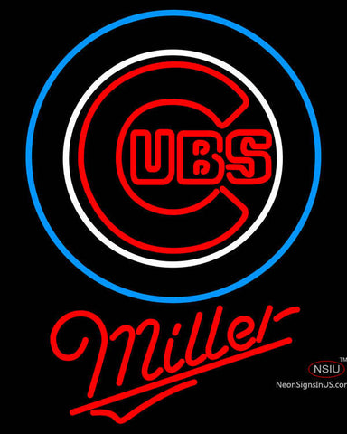 Miller Chicago Cubs MLB Neon Sign