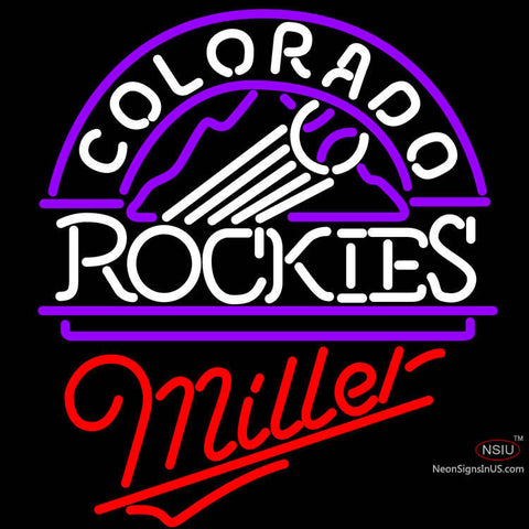 Miller Colorado Rockies MLB Neon Sign