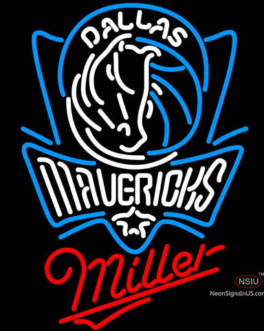 Miller Dallas Mavericks NBA Neon Sign