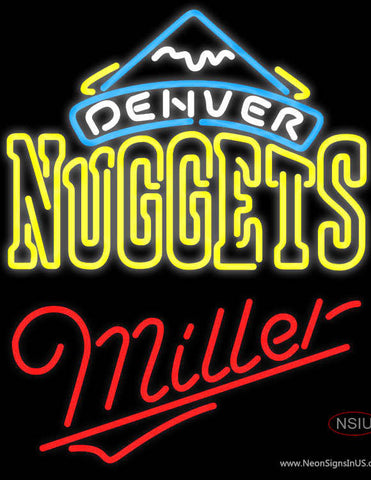 Miller Denver Nuggets NBA Neon Sign