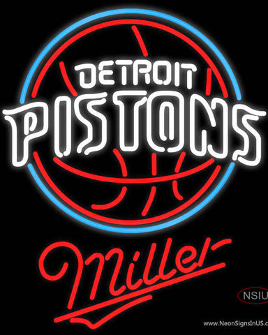 Miller Detroit Pistons NBA Neon Sign