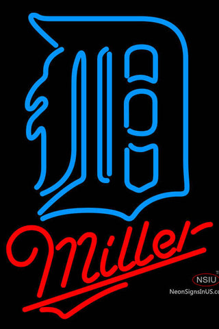 Miller Detroit Tigers MLB Neon Sign