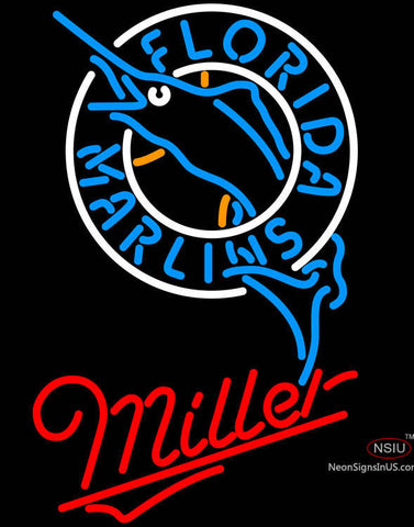 Miller Florida Marlins MLB Neon Sign