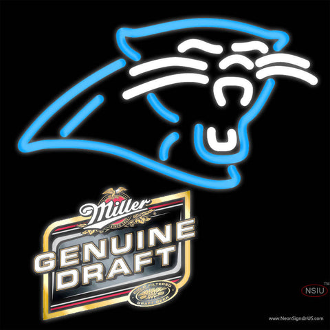 Miller Genuine Draft Carolina Panthers NFL Neon Sign   x