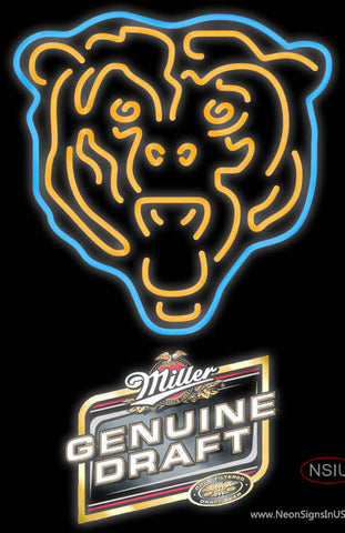 Miller Genuine Draft Chicago Bears NFL Neon Sign