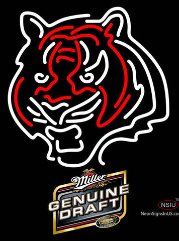 Miller Genuine Draft Cincinnati Bengals NFL Neon Sign
