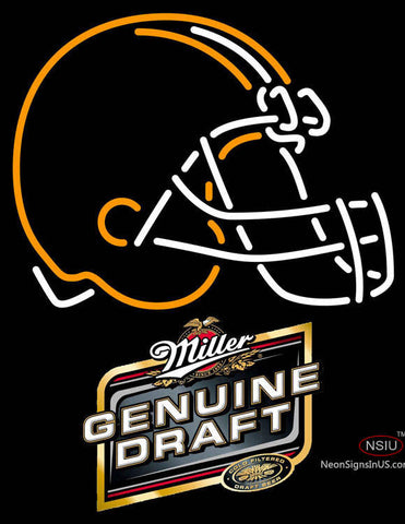Miller Genuine Draft Cleveland Browns NFL Neon Sign
