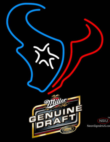Miller Genuine Draft Houston Texans NFL Neon Sign