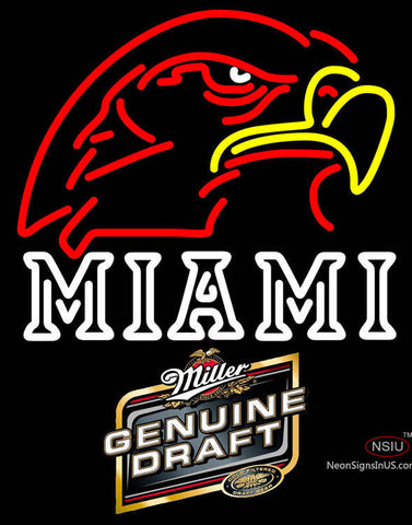 Miller Genuine Draft Miami UNIVERSITY Fall Session Neon Sign