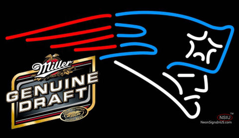 Miller Genuine Draft New England Patriots NFL Neon Sign  7