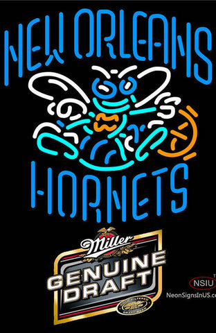 Miller Genuine Draft New Orleans Hornets NBA Neon Sign